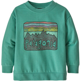 Patagonia Lightweight Sudadera Cuello Redondo Niños, fitz roy skies/light beryl green